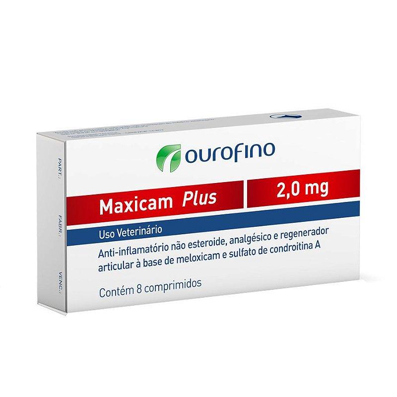 Maxicam Plus Ourofino 2mg 8 Comprimidos