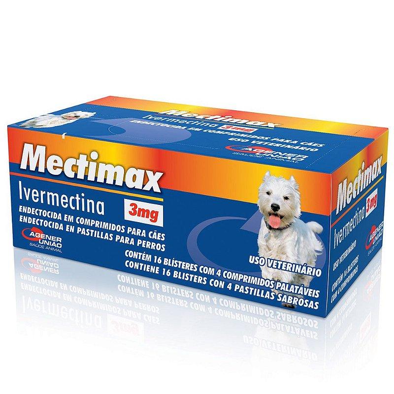 Mectimax Agenor União 3mg 1 Unidade 4 comprimidos