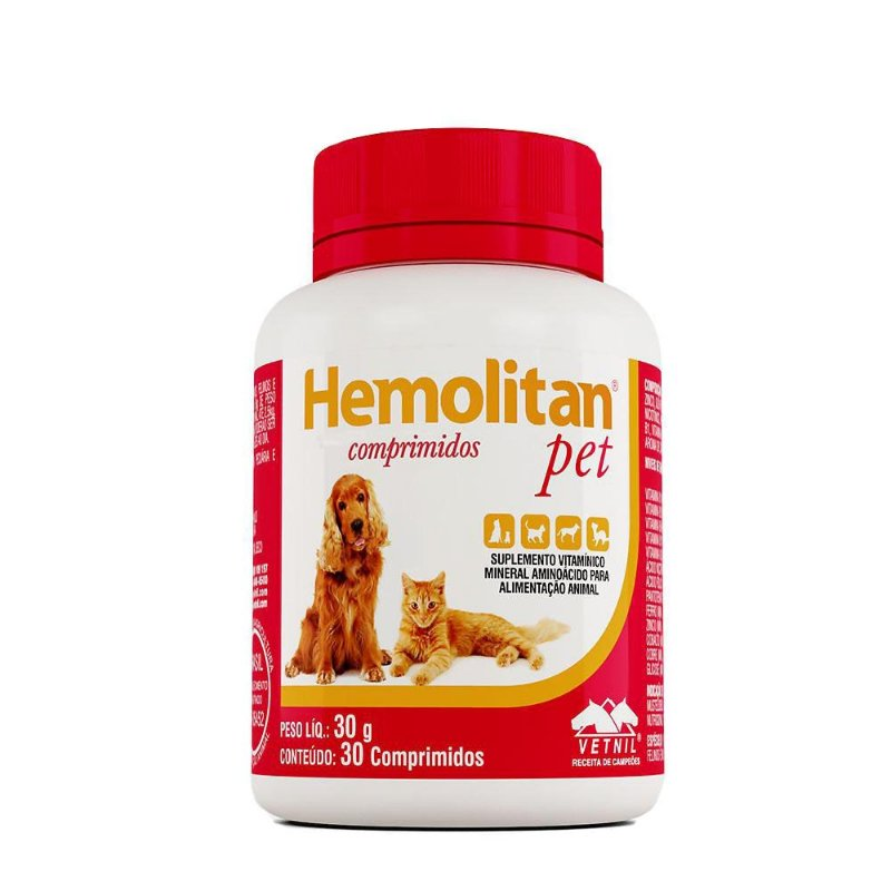 Hemolitan Pet Vetnil 30 Comprimidos