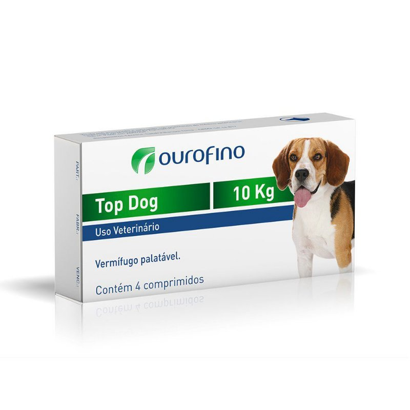 Vermífugo Ourofino Top Dog para Cães 10kg