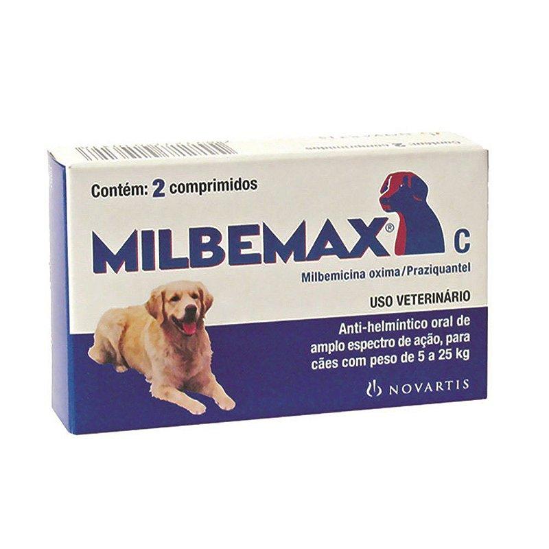 Milbemax Novartis para Cães de 5kg a 25kg