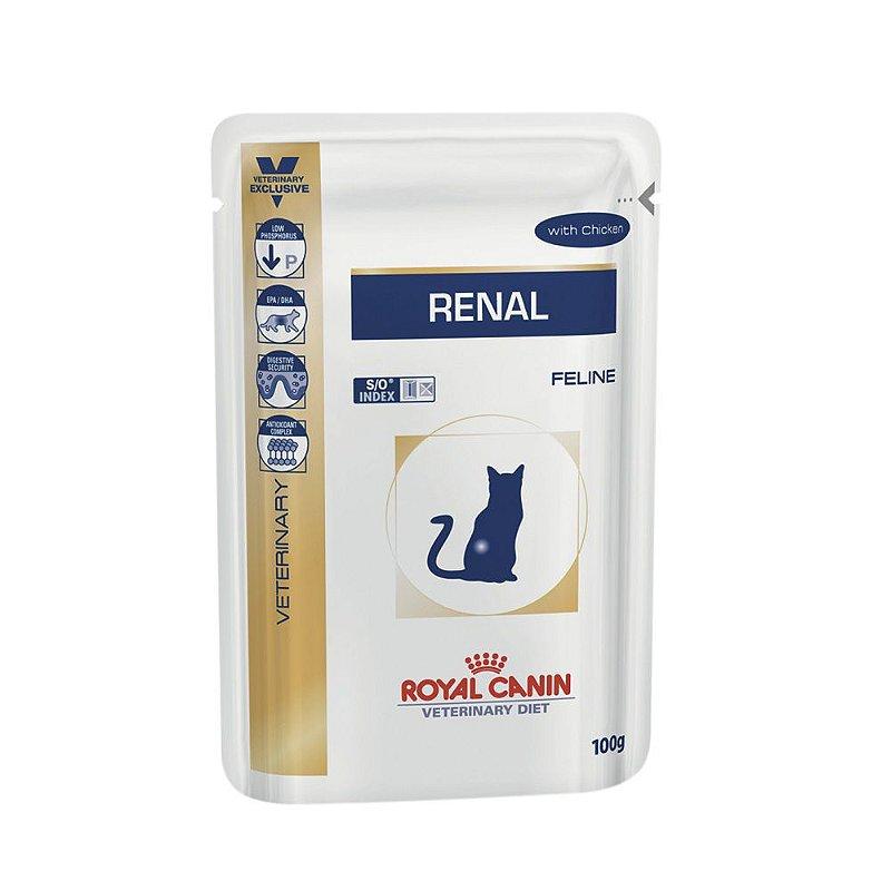 Ração Úmida Royal Canin Sachê Veterinary Renal - Gatos Adultos - 100g
