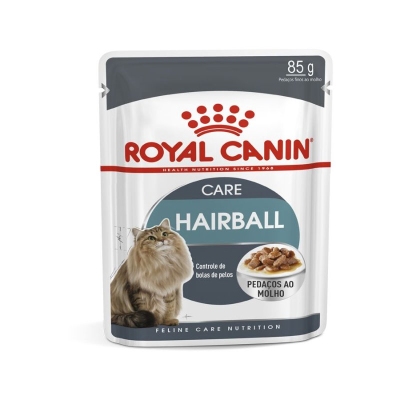 Ração Úmida Royal Canin Feline - Gatos Adultos Sachê Hairball Care - 85g
