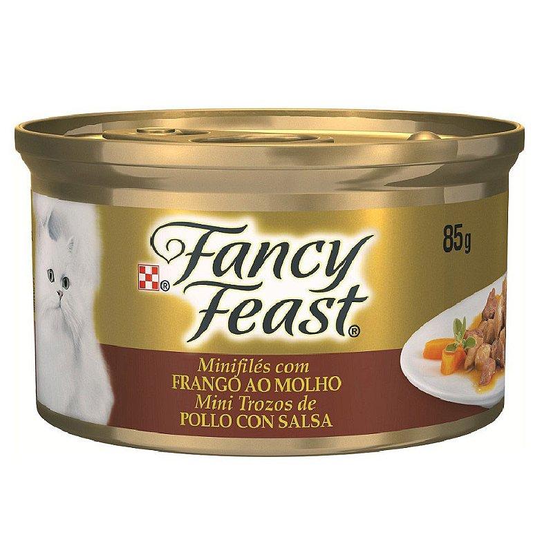 Mini Filés Fancy Feast para Gatos Adultos Sabor Frango ao Molho - 85g