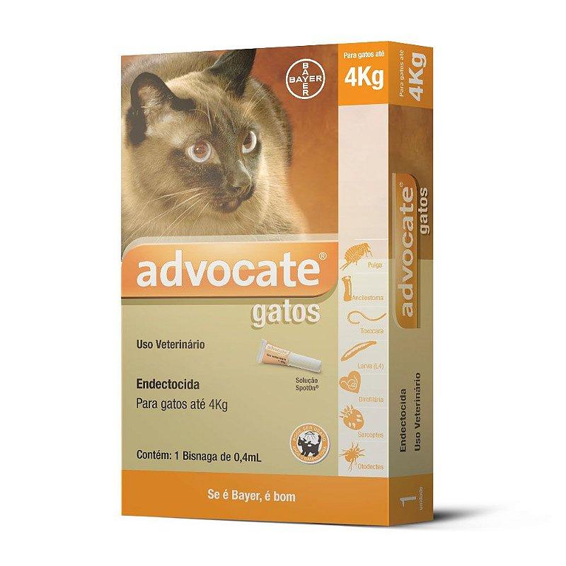 Antipulgas Advocate para Gatos de até 4kg 0,4ml