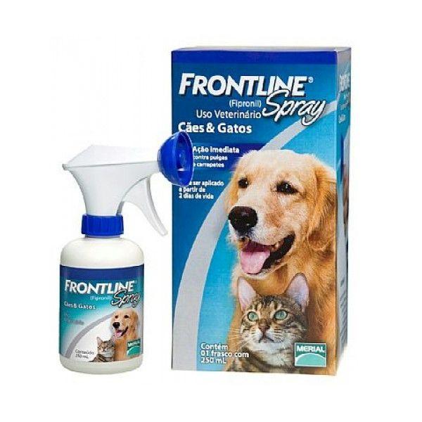 Antipulgas e Carrapatos Frontline Spray para Cães e Gatos
