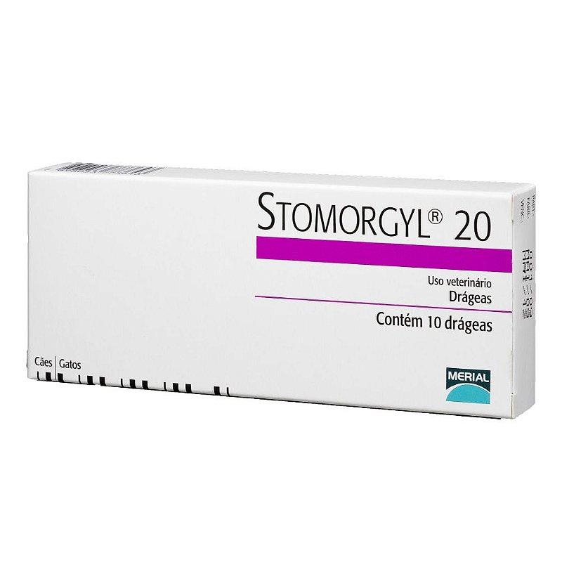 Stomorgyl 20 Antibiótico Merial para Cães e Gatos 10 Comprimidos