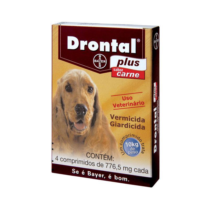 Drontal Plus para Cães de 10 kg Sabor Carne