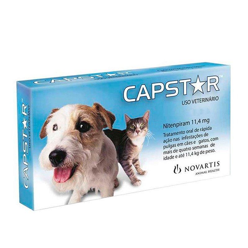 Antipulgas Novartis Capstar 11mg Cães e Gatos até 11kg