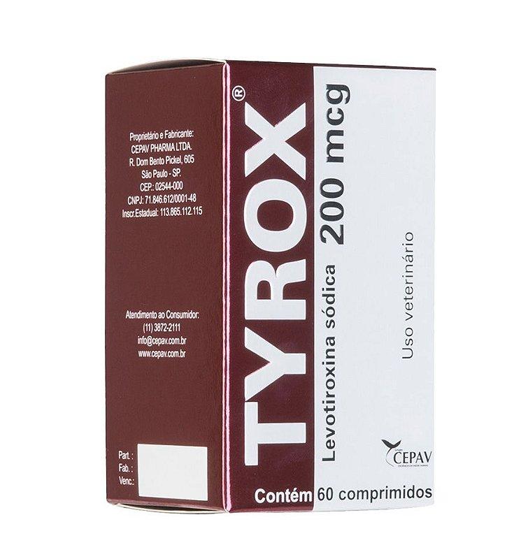 Repositor Hormonal Tyrox Cepav 200mcg - 60 comprimidos