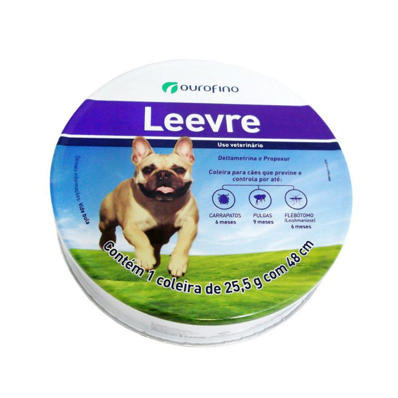 Coleira Antiparasitária Ourofino Leevre para Cães
