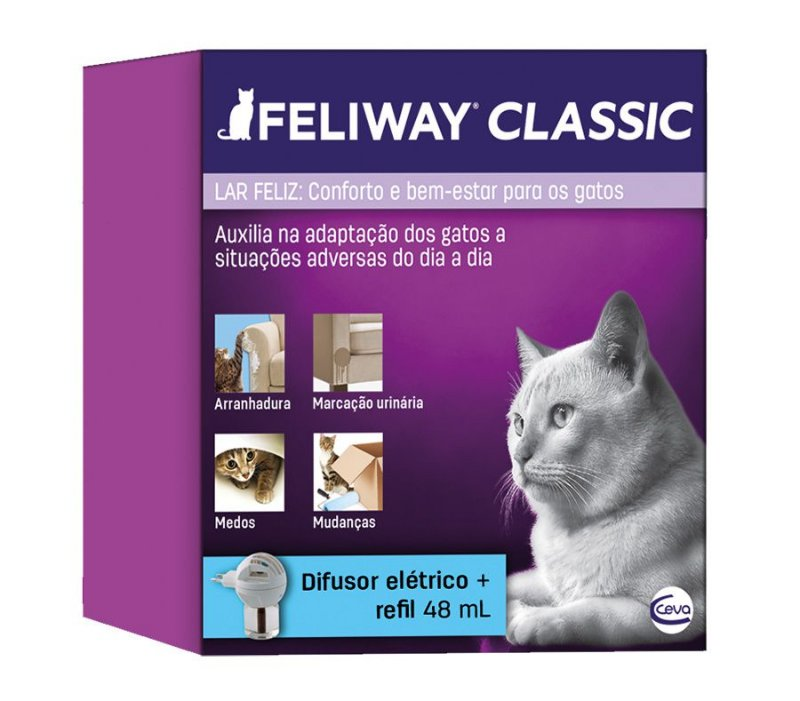 Difusor Elétrico Ceva Feliway com Refil