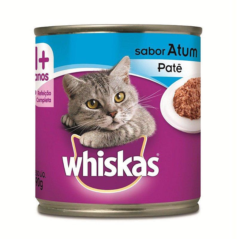 Ração Úmida Whiskas Lata para Gatos Adultos Sabor Atum - 290g