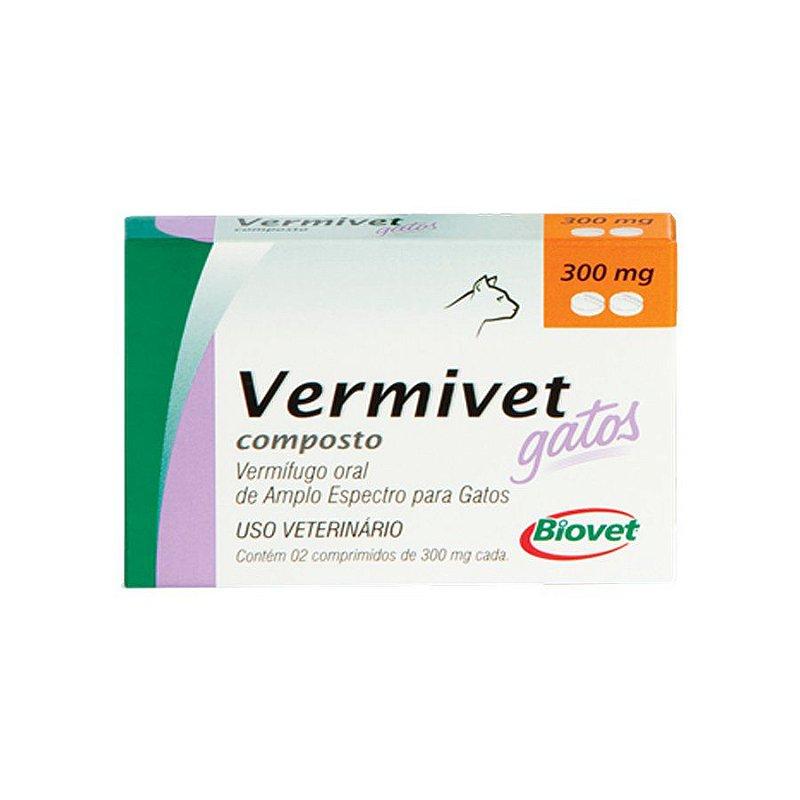 Vermífugo Biovet para Gatos Vermivet 300mg