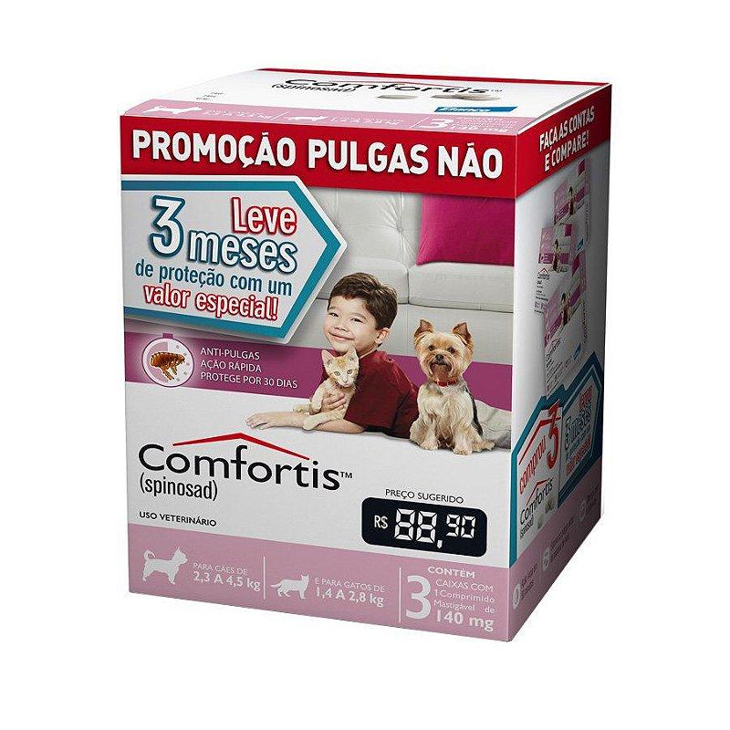 Combo Antipulgas Comfortis Elanco para Cães de 2,3 a 4,5kg