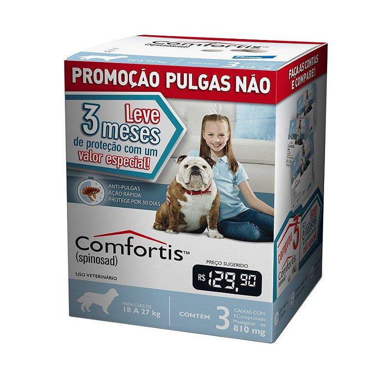 Combo Antipulgas Comfortis Elanco para Cães 18 a 27Kg