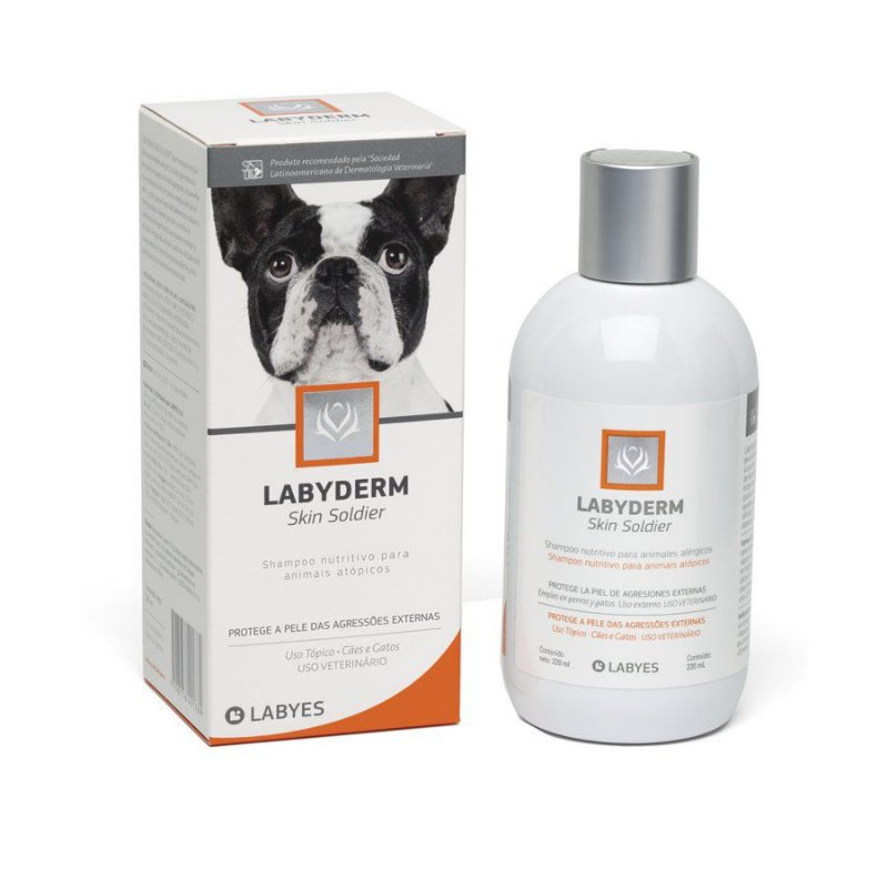 Shampoo Labyes Skin Soldier para Cães e Gatos 220ml