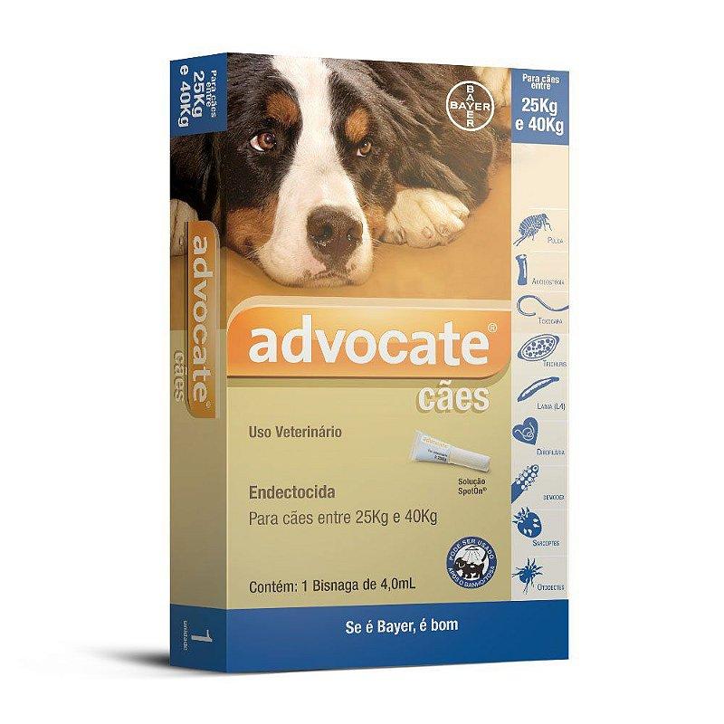Antipulgas Advocate para Cães entre 25 e 40Kg 4,0ml