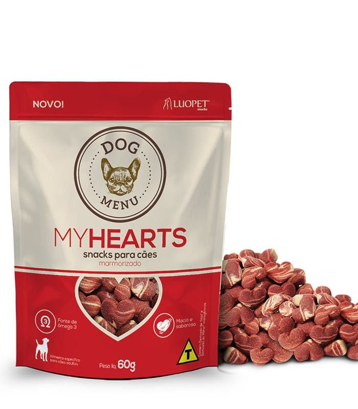 Petisco Dog Menu My Hearts Luopet 60g