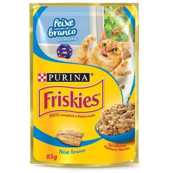 Ração Úmida Friskies Nestlé Purina Peixe Branco 85g