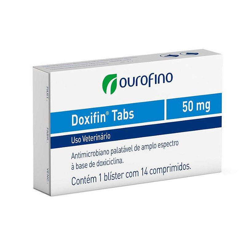 Antibiótico Ourofino Doxifin Tabs Para Cães e Gatos 50mg