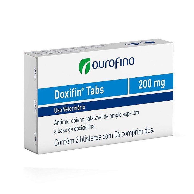 Antibiótico Ourofino Doxifin Tabs Para Cães e Gatos 200mg