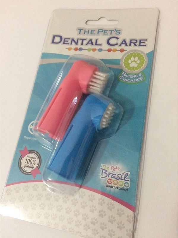 Escova Dental Dedeira Blister Com 2 - Cães E Gatos