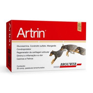Artrin Brouwer - Cartela com 6 comprimidos