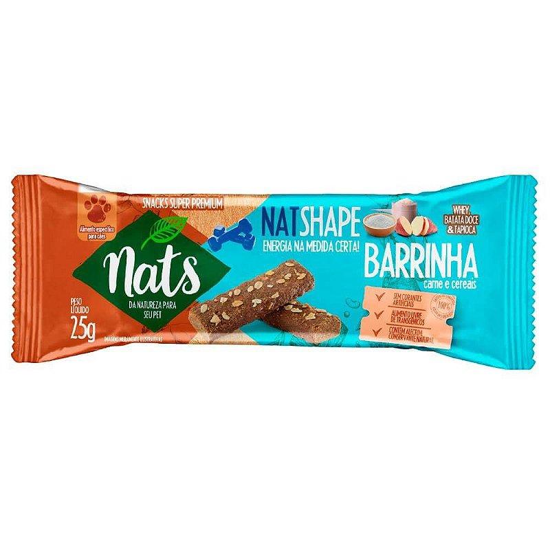 Snack Barrinha Natshape Nats para Cães 25g