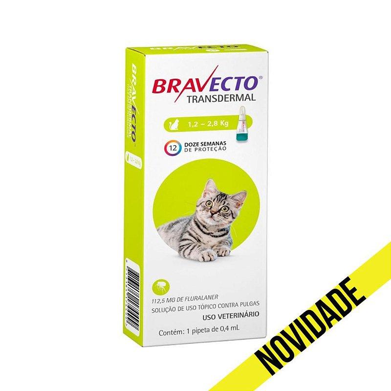 Antipulgas Bravecto Transdermal MSD para Gatos 1,2 a 2,8kg