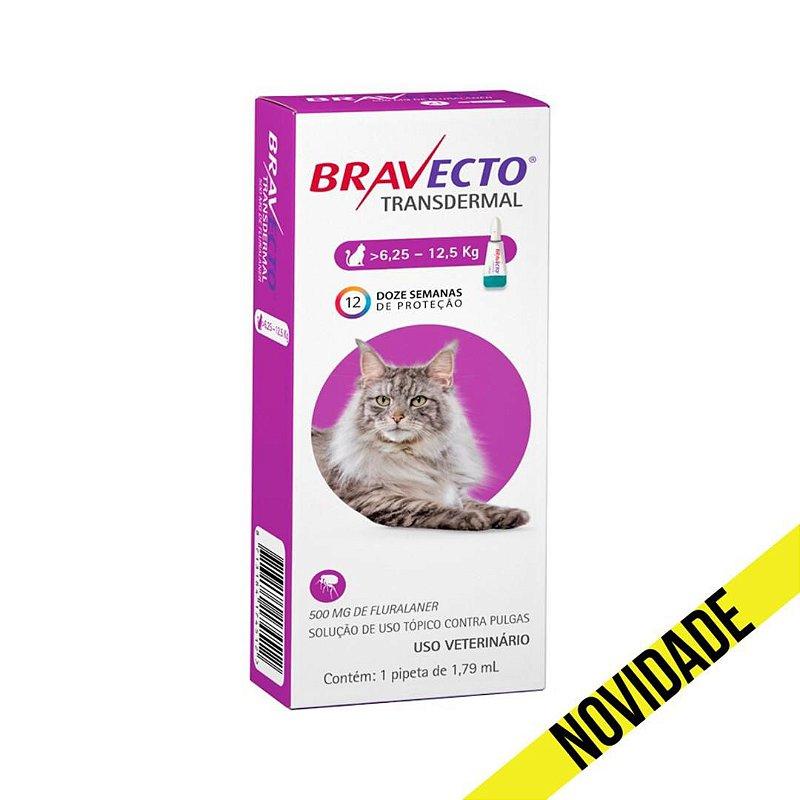 Antipulgas Bravecto Transdermal MSD para Gatos 6,25 a 12,5kg