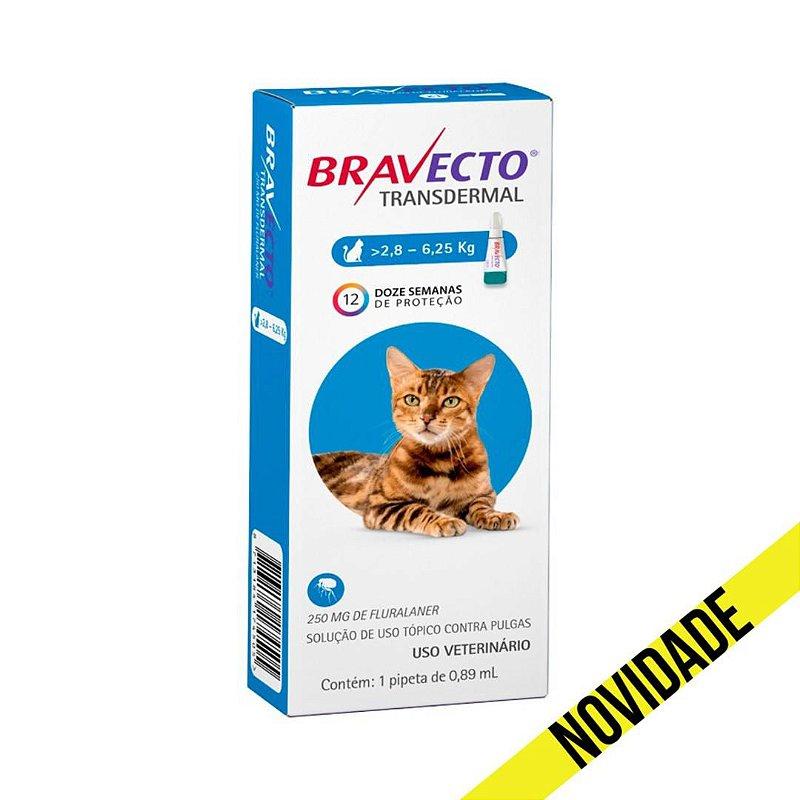 Antipulgas Bravecto Transdermal MSD para Gatos 2,8 a 6,25kg