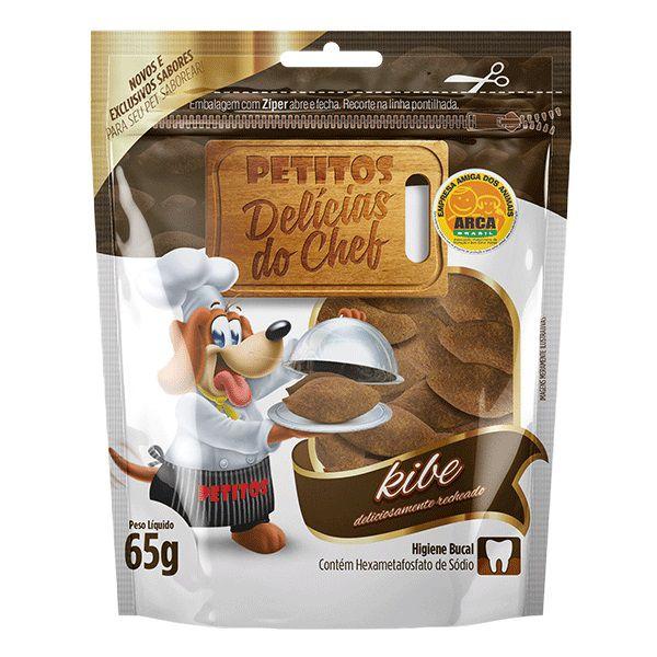 Snack Petitos Para Cães Chef Sabor Kibe
