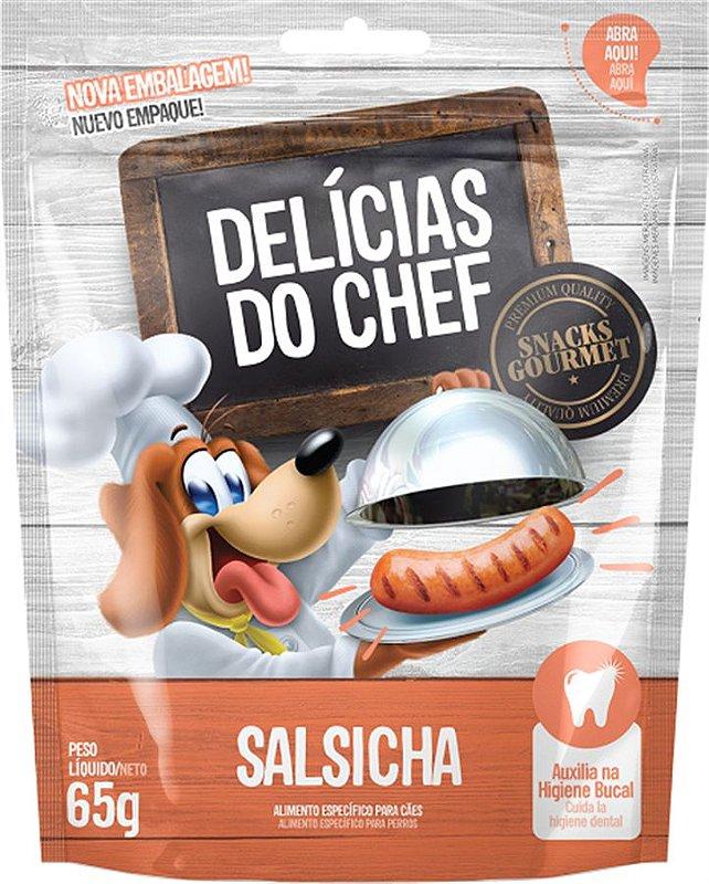 Snack Petitos Para Cães Chef Sabor Salsicha