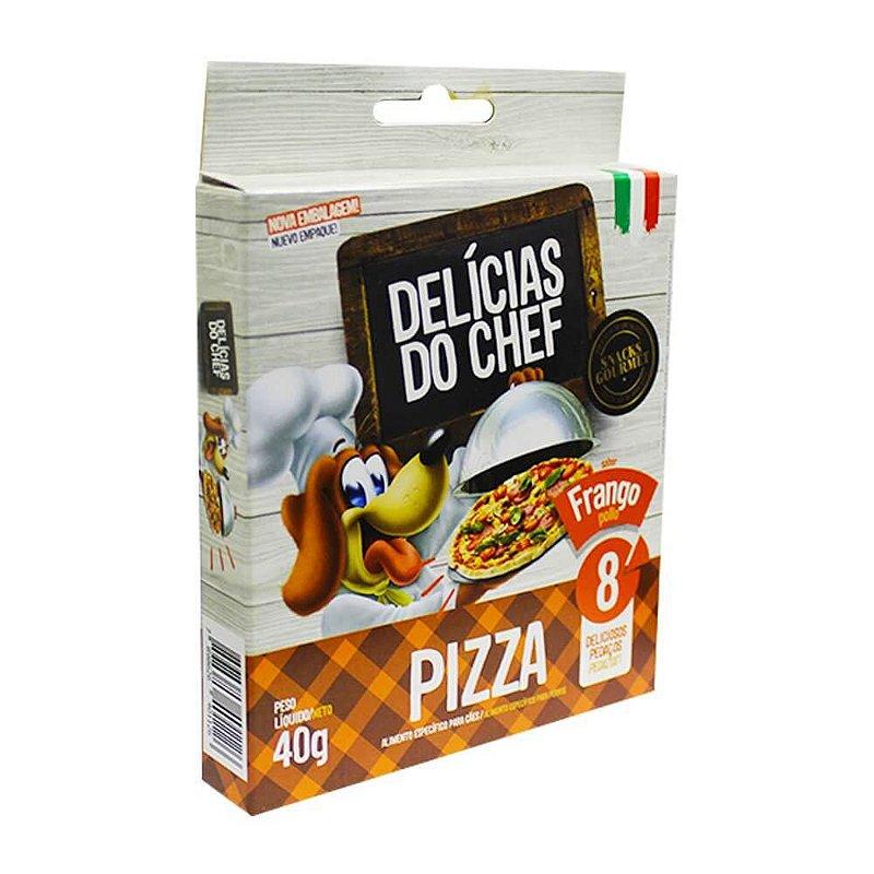 Snack Petitos Gourmet Para Cães Chef Sabor Pizza de Frango