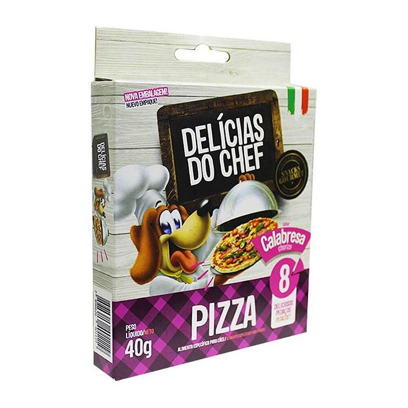 Snack Petitos Gourmet Para Cães Chef Sabor Pizza de Calabresa