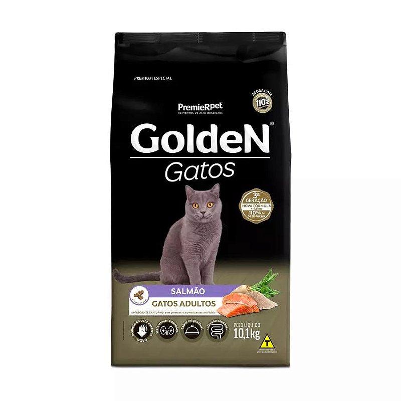 Ração Golden para Gatos Adultos Sabor Salmão