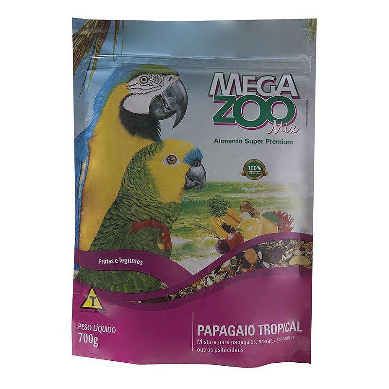 Ração Megazoo Mix para Papagaios Tropical - 700g