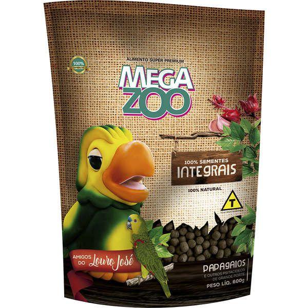 Ração Megazoo Integral Amigos do Louro José para Papagaio - 600 g