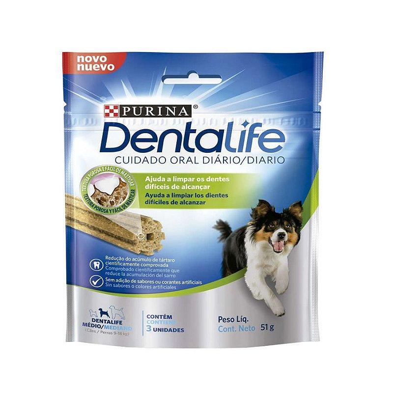 Snack Purina Dentalife para Cães Raças Médias - 51g