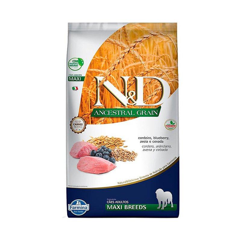 Ração Farmina N&D Ancestral Grain Cordeiro Cães Adultos Raças Grandes 10,1Kgs