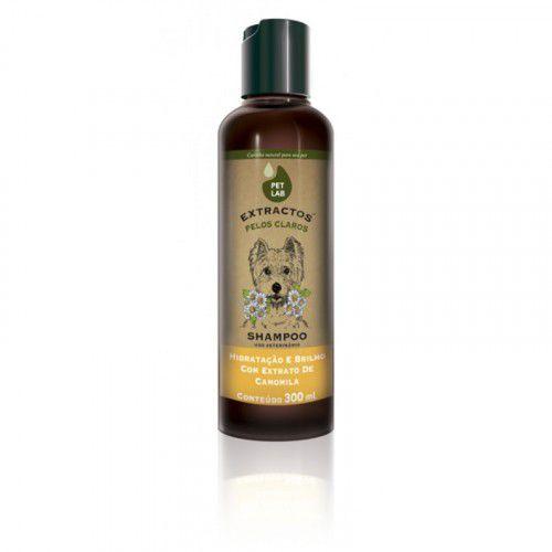 Shampoo PetLab para Cães de Pelos Claros - Camomila 300ml