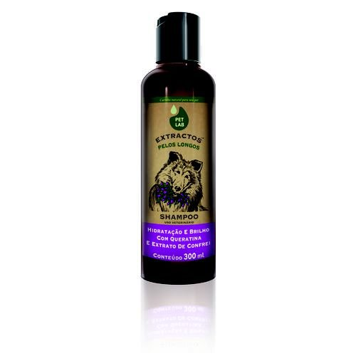 Petlab Extractos Shampoo Para Cães Pelo Longo Confrei 300ml