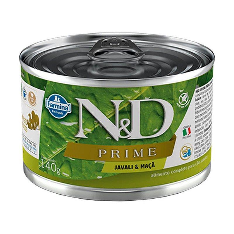 Ração Úmida N&D Prime para Cães Adultos Sabor Javali 140g
