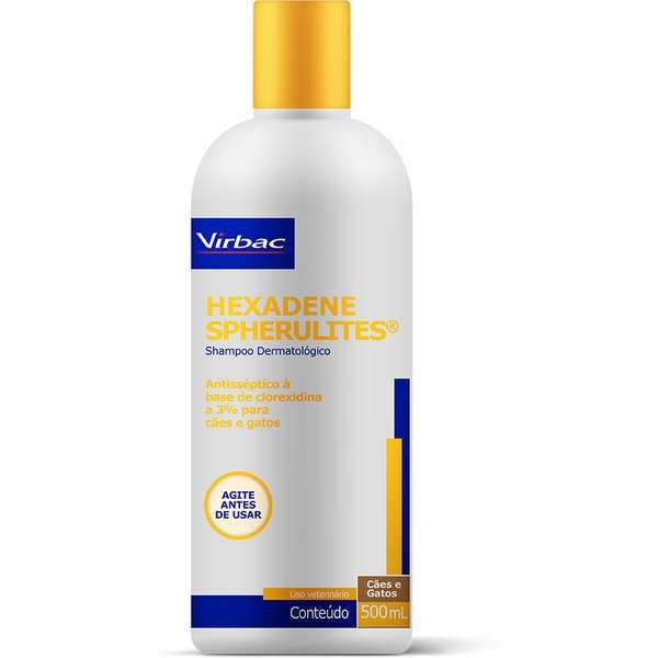 Hexadene Virbac Spherulites Shampoo Dermatológico para Cães e Gatos 500ml