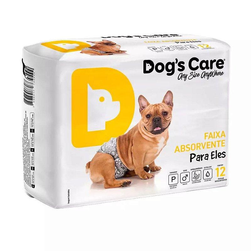 Fralda Dogs Care Ecofralda para Cães Machos 12 Unidades
