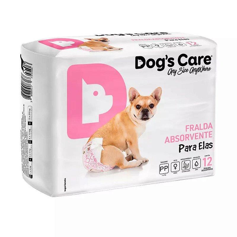 Fralda Higiênica Dogs Care Ecofralda para Cães Fêmeas 12 Unidades