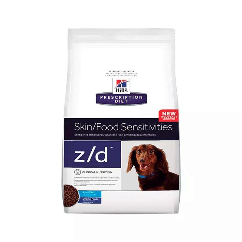Ração Prescription Diet Z/D Alergias Alimentares e da Pele Hills para Cães Adultos Pedaços Pequenos