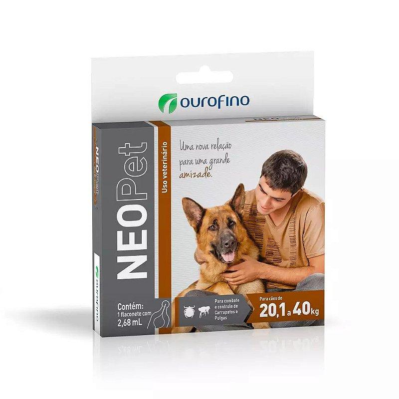 Antipulgas e Carrapatos Neopet Ourofino para Cães de 20,1Kg a 40Kg