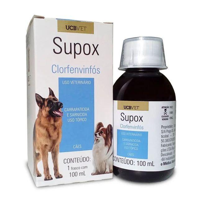 Supox Carrapaticida Sarnicida e Pulicida 100 Ml Ucb